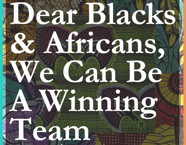 Dagny Zenovia: Dear Blacks and Africans, We Can Be A Winning Team