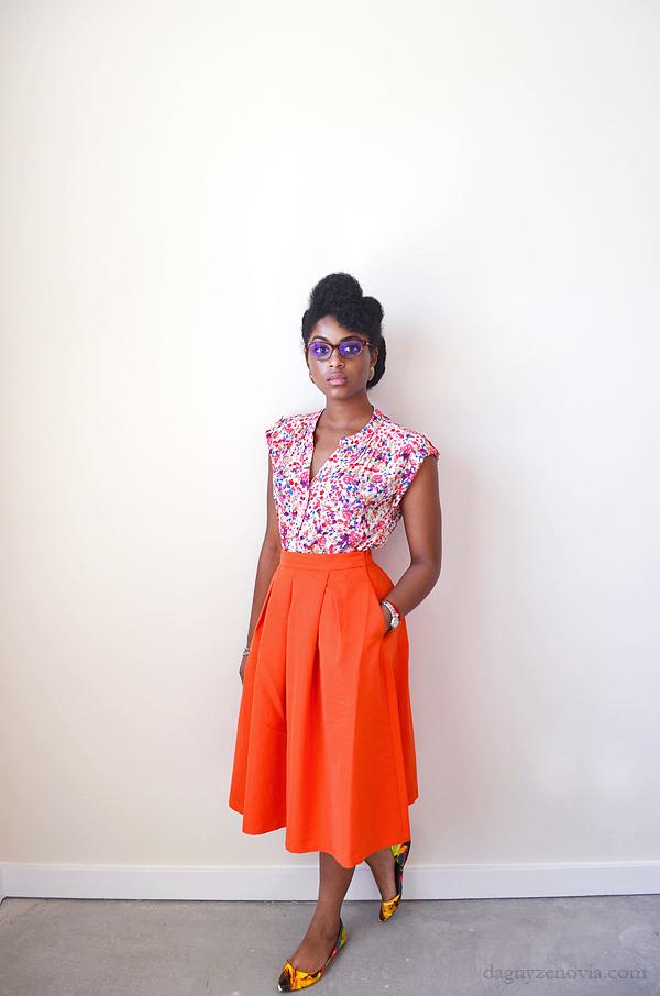 Dagny Zenovia: Orange and Print