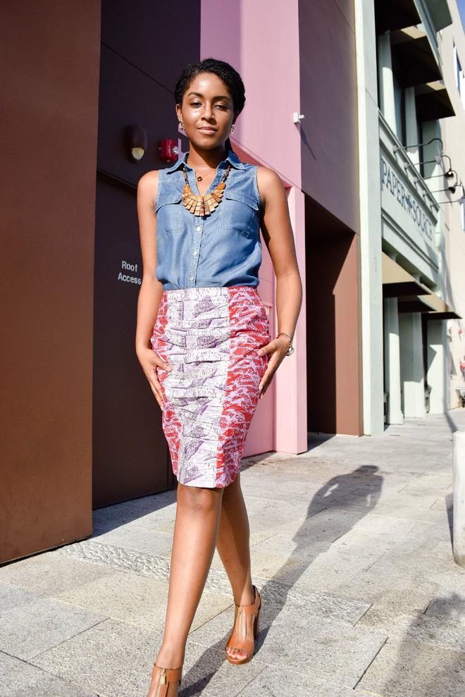 Dagny Zenovia African Skirt