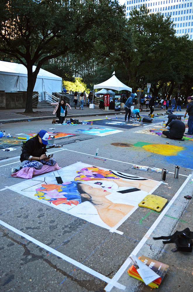 Dagny Zenovia Via Colori Street Paint Festival Houston