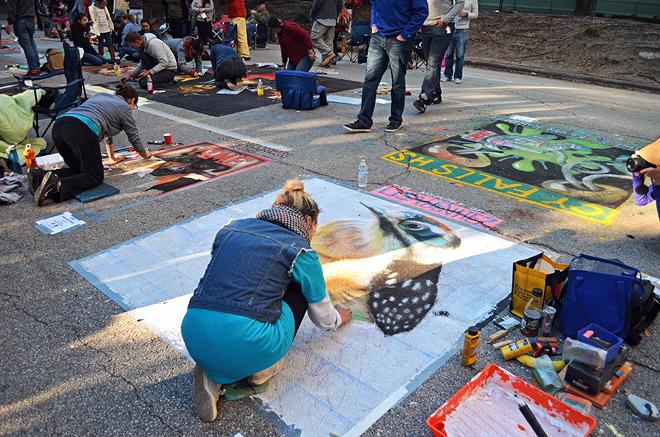Dagny Zenovia Via Colori Street Paint Festival Houston