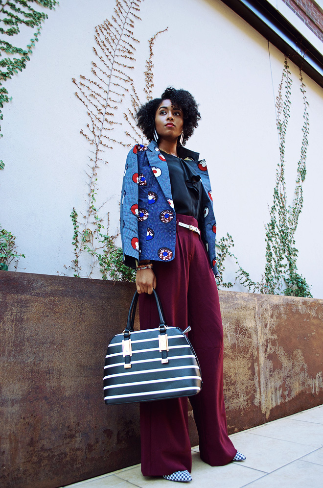 Dagny Zenovia Plum Pants African Jacket