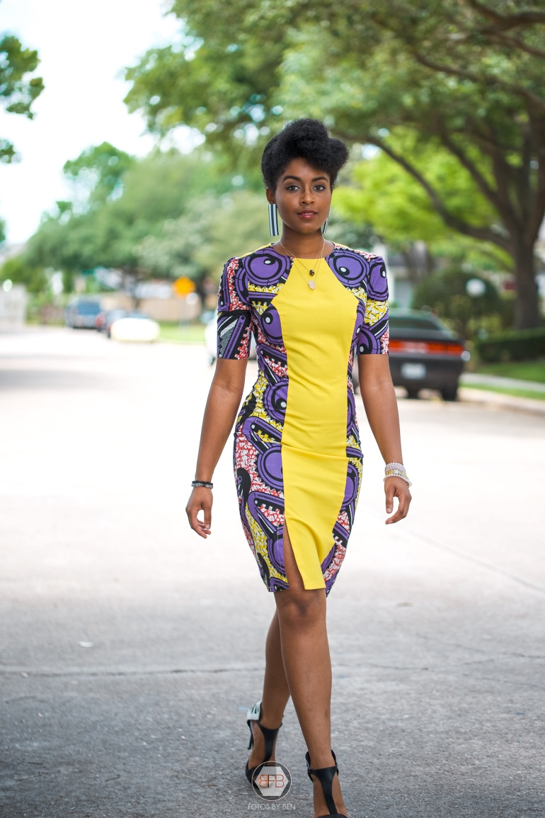 Dagny Zenovia African Print Dress