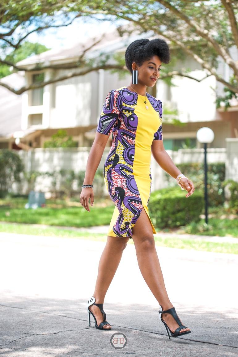 Dagny Zenovia African Print Dress